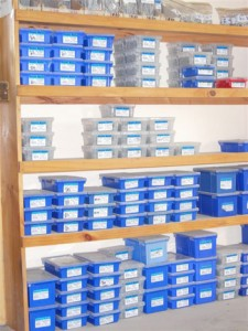 shelves with hardware supplies