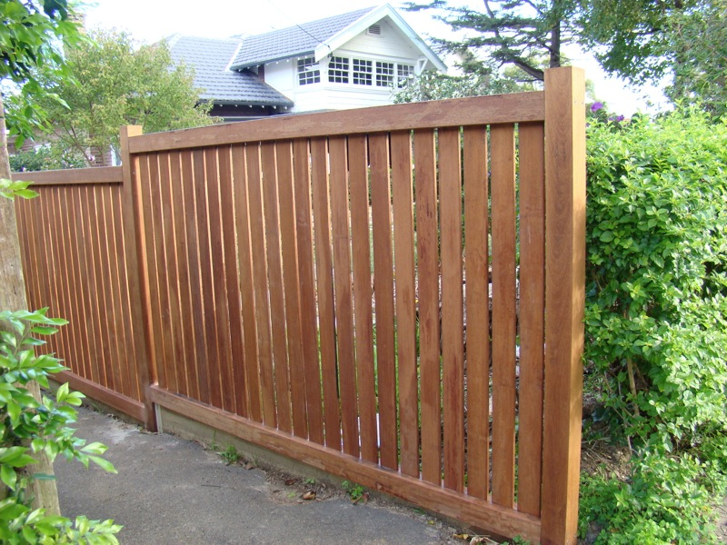 residential wooden fence